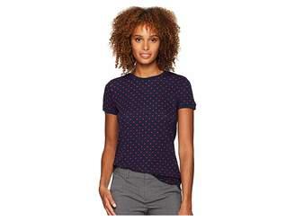 Lauren Ralph Lauren Print Stretch Cotton T-Shirt