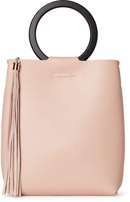 Street Level Blush Tasseled Ring Handle Bag