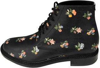 Saint Laurent Leather lace up boots