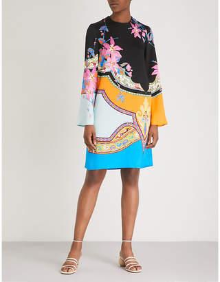 Etro Floral-print crepe tunic dress