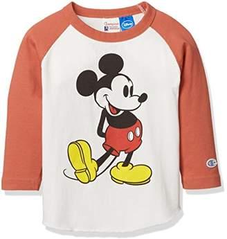 Champion (チャンピオン) - [チャンピオン] ディズニー ラグランTシャツ JC2619 ボーイズ レッド 日本 140 (日本サイズ140 相当)