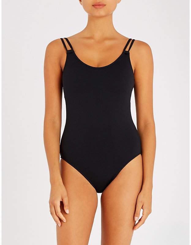 Scoop-neck swimsuit