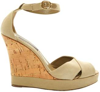 Ralph Lauren Khaki Cloth Sandals