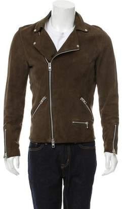 AllSaints Suede Perfecto Jacket