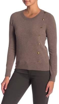 Sigrid Olsen Side Button Cashmere Sweater
