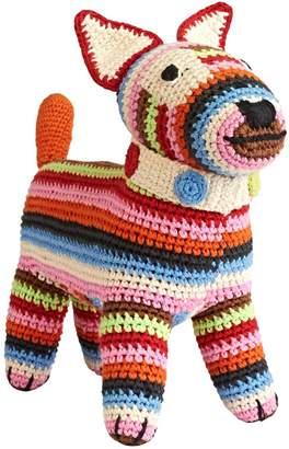 Anne Claire Hand-Crocheted Cotton Rainbow Dog