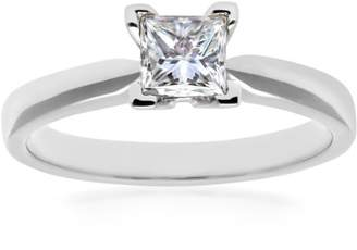 N. Naava EGL Women's 18 ct Yellow Gold 0.53 ct Certified Diamond Solitaire Engagement Ring, Size N, HVVS2