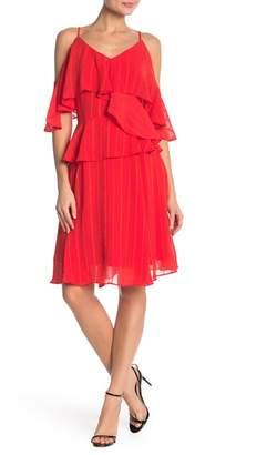 Nanette Lepore NANETTE V-Neck Cold Shoulder Dress