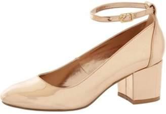 Dorothy Perkins Womens *London Rebel Block Heel Ankle Strap Shoes