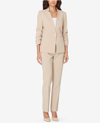 Tahari ASL Ruched-Sleeve Pantsuit $290 thestylecure.com