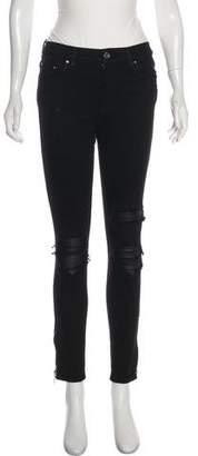 Amiri Mid-Rise Distressed Jeans