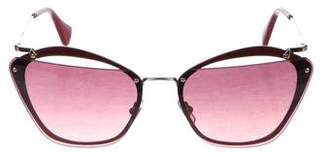 Miu Miu Rimless Tinted Sunglasses