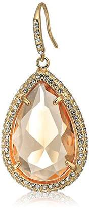 ABS by Allen Schwartz Teardrop Stone with Pave Drop Earrings