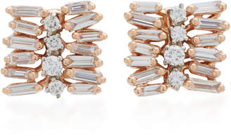 Suzanne Kalan Small Post 18K Rose Gold Diamond Earrings