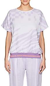 Paradised PARADISED MEN'S JACQUARD-KNIT SHORT-SLEEVE SWEATSHIRT - LILAC SIZE S
