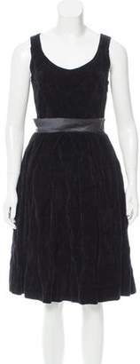 Lanvin Sleeveless Velvet Dress
