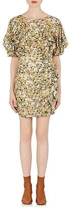 Isabel Marant Women's Face Floral Minidress - Yellow