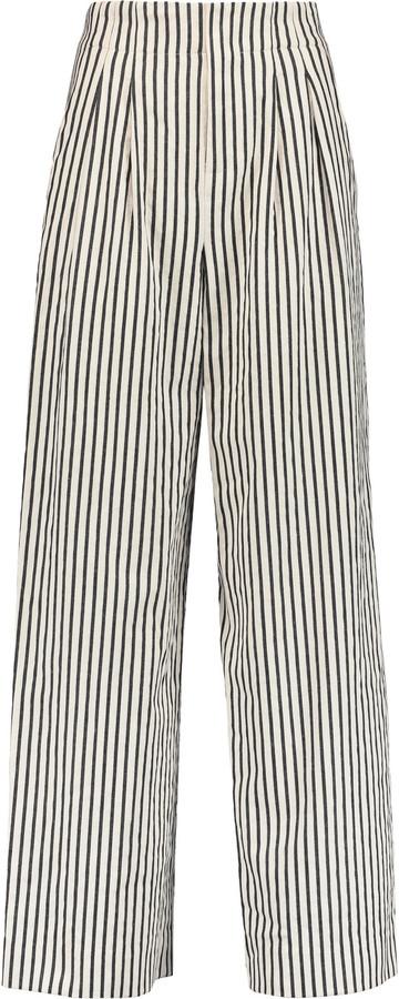 Alice + OliviaAlice + Olivia Alice + Olivia Eloise striped stretch-cotton twill wide-leg pants