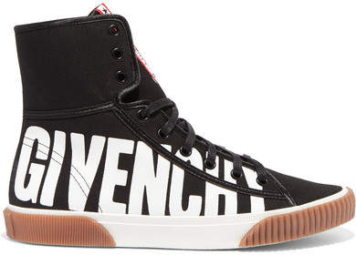 Givenchy - Printed Canvas High-top Sneakers - Black
