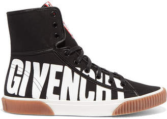 Givenchy Logo-print Canvas High-top Sneakers - Black