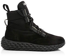 Giuseppe Zanotti Men's High Urchin Suede High-Top Sneakers