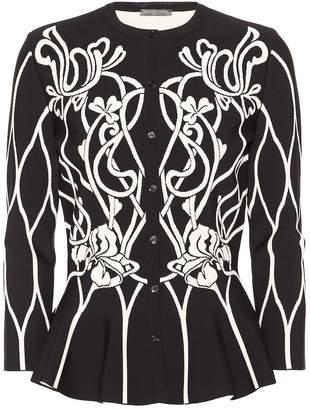 Alexander McQueen Floral knit cardigan