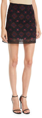 Pinko Embroidered Illusion Mini Skirt