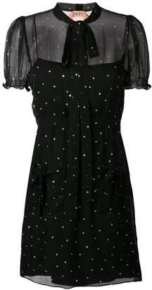 No.21 star-print mini dress