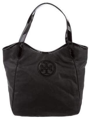 Tory Burch Patent Leather-Trimmed Tote Bag