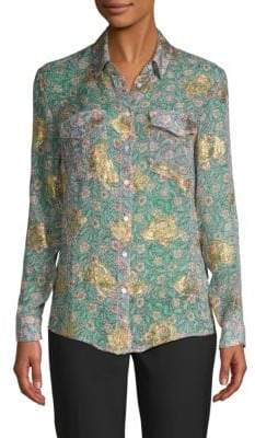 The Kooples Floral Button-Down Shirt