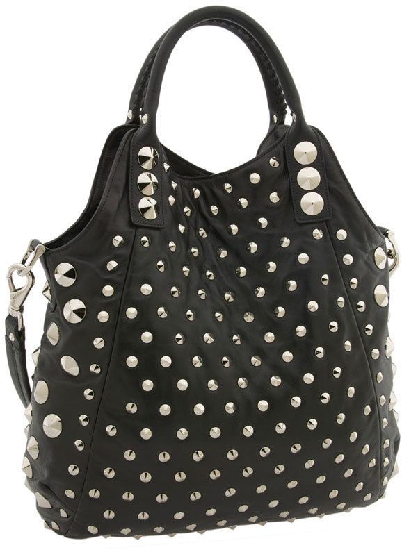 Be & D Studded Convertible Shoulder Tote