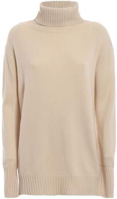 Max Mara Dialogo Wool And Cashmere Over Turtleneck
