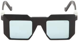 Va Va 3d Mirrored Lenses Squared Acetate