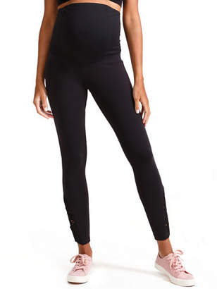Ingrid & Isabel Maternity Active Ankle-Length Leggings with Macrame Detail