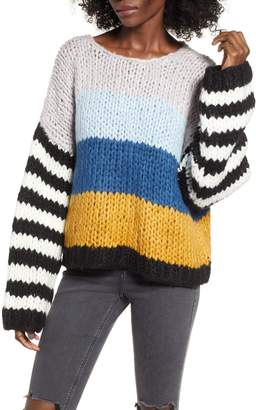 Blank NYC BLANKNYC Mixed Signals Mix Stripe Sweater