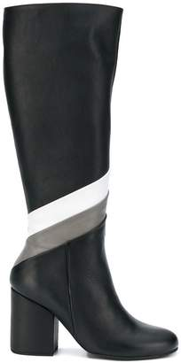 Paloma Barceló striped knee-length boots