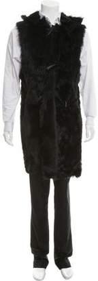 Giuseppe Zanotti Shearling Hooded Vest