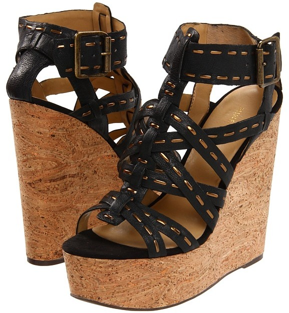 Nine West Bejewled (Black/Bronze Leather) - Footwear