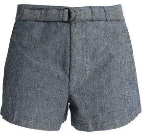 A.P.C. Belted Cotton And Linen-Blend Shorts
