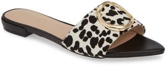 Something Navy Cassie Genuine Calf Hair Slide Sandal