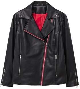 Violeta BY MANGO Contrasting biker jacket