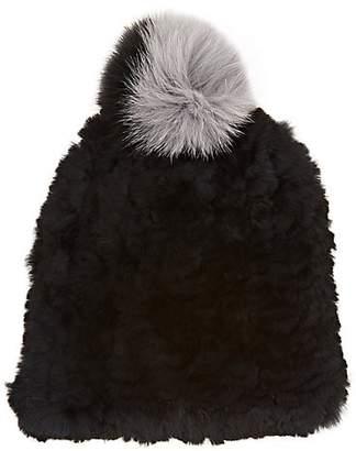 Eugenia Kim Women's January Knit Fur Beanie - Black