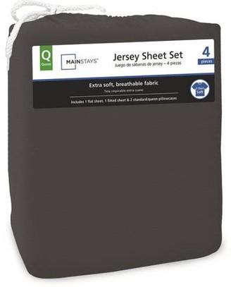 Mainstays Jersey Knit Sheet Set, Twin-XL, Black