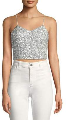 Alice + Olivia AO.LA by Alice+Olivia Archer Embellished Cropped Cami Top