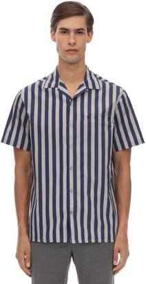 Lanvin Striped Cotton Poplin Bowling Shirt