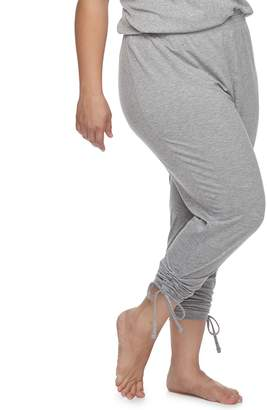 Sonoma Goods For Life Plus Size SONOMA Goods for Life Ruched Drawstring Lounge Pants