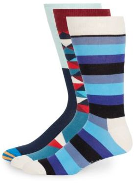 Assorted Cotton-Blend Socks/4-Pack $45 thestylecure.com