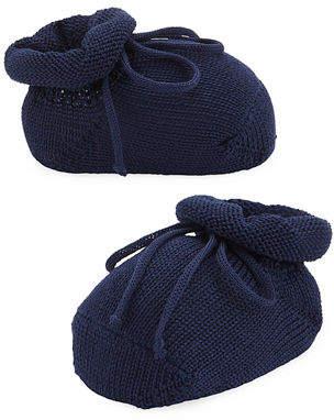 story. Loris Basic Cotton Bootie w/ Bow, Infant