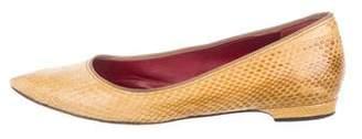Lanvin Snakeskin Pointed-Toe Flats