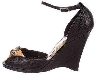 Missoni Wedge Ankle-Strap Sandals